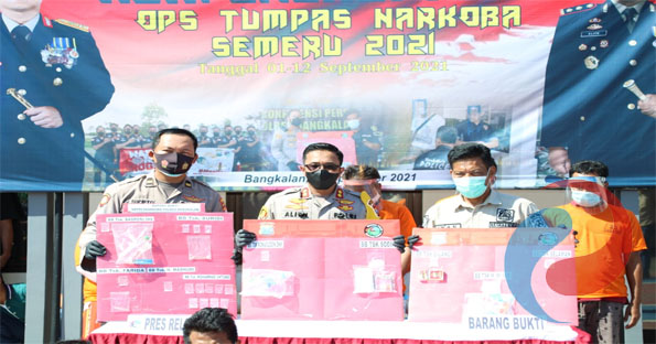 Permalink ke Polres Bangkalan Ungkap 18 Kasus Ops Tumpas Narkoba Semeru 2021