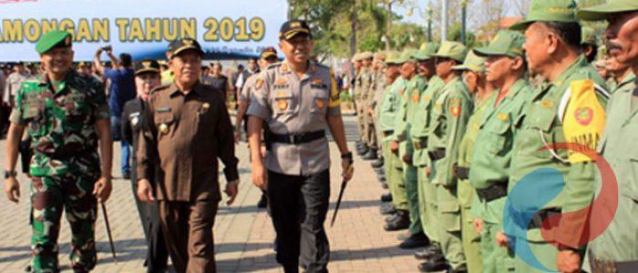 TNI, Polri dan Pemda Lamongan Apel Kesiapan Pilkades Serentak