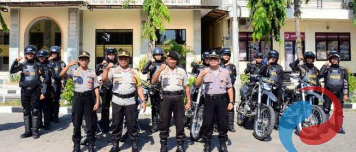 Persiapan Pengamanan Pilkades, Anggota Polres Situbondo Latihan Dalmas