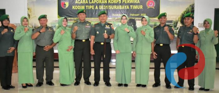 Dandim Surabaya Timur Pimpin Korps Perwira Masuk Satuan