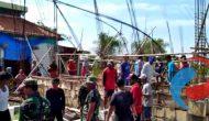 Permalink ke Anggotaa Koramil Glagah Bantu Percepat pembangunan Pondasi Masjid