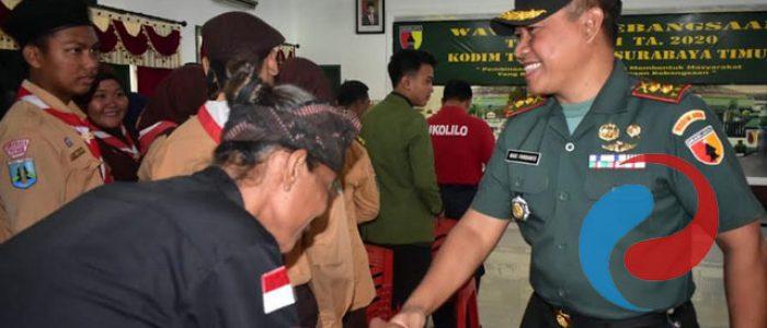 Kodim Surabaya Timur Gelar Sosialisasi Wasbang Triwulan 1 TA 2020