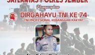 Permalink ke Satlantas Polres Jember Mengucapkan Dirgahayu TNI ke 74